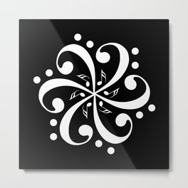 Music mandala Metal Print