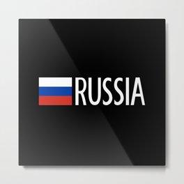Russia: Russian Flag & Russia Metal Print