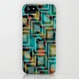 Black and White Squares Pattern 07 iPhone Case