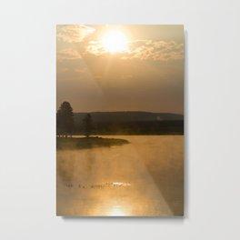 The Suns Reflection Metal Print