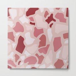 Abstract Terrazzo - Pink Quarz Metal Print