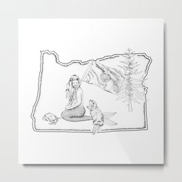 Oregon Mermaid Metal Print