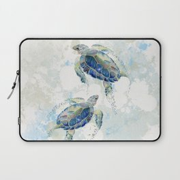 Swimming Together 2 - Sea Turtle  Laptop Sleeve