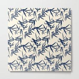 Flora Traditional Japanese Inspired Metal Print