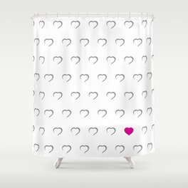Hearts - Pink Shower Curtain