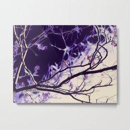Indigo Branches Metal Print