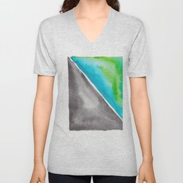 180811 Watercolor Block Swatches 4| Colorful Abstract |Geometrical Art Unisex V-Neck