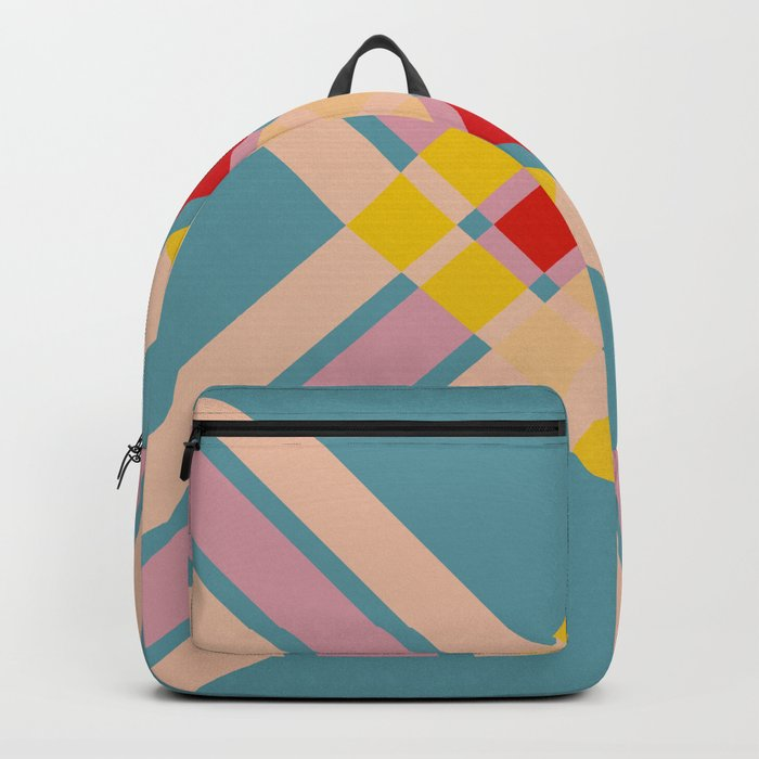 Mullo - Colorful Decorative Abstract Art Pattern Backpack