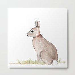 Rabbit Watercolor Metal Print