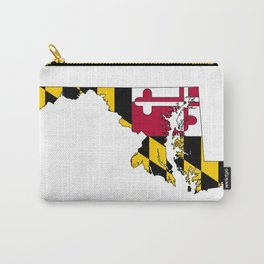 Map of Maryland with Maryland State Flag Carry-All Pouch