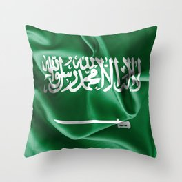 Saudi Arabia Flag Throw Pillow