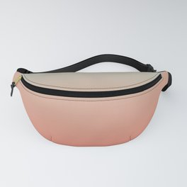 Ombre Living Coral with Turquoise Fanny Pack