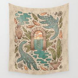 Paradise Panthalassa   Natural History Fantasy Art Wall Tapestry