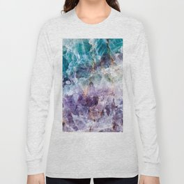 Turquoise & Purple Quartz Crystal Long Sleeve T-shirt