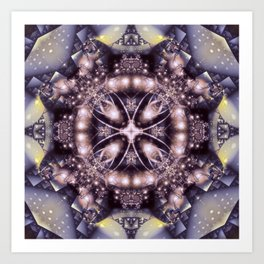 Alien Visitation in Lilac and Lavender Art Print
