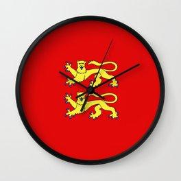 flag of normandie Wall Clock