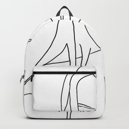 Women Looking Down Backpack