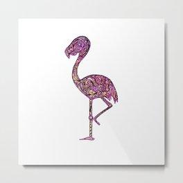 pinky the flamingo Metal Print