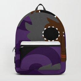 Font Face 2_purple on purple Backpack