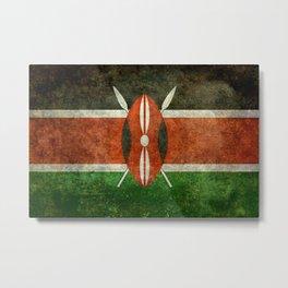 National flag of Kenya -Vintage version, to scale Metal Print