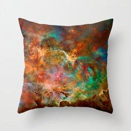 Carina Nebula Space Beauty Throw Pillow