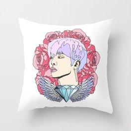 Roses for Jonghyun. Throw Pillow