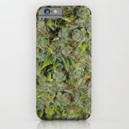 cannabis bud, marijuana macro iPhone Case