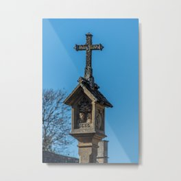 Medieval Cross in Market Square Stow on the Wold Cotswolds England  Metal Print