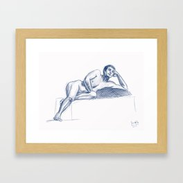 Male Model figure drawing #2 Framed Art Print