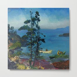 "George Wesley Bellows ""Evening Blue (Tending the Lobster Traps. Early morning)"" Metal Print"
