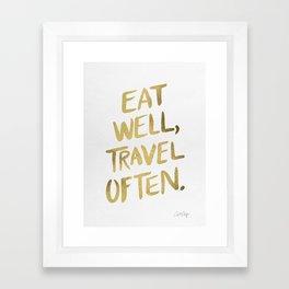 Eat Well Travel Often on Gold