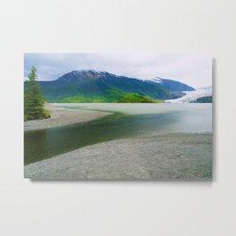 Mendenhall Glacier Lake Alaska Metal Print