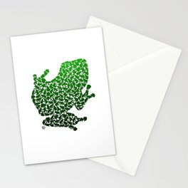 100 Poison Frogs - Green Stationery Cards