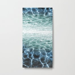acqua azzurra acqua chiara Metal Print
