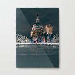 London St. Paul's Cathedral view from the Millennium Bridge Metal Print