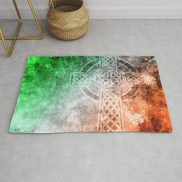 Irish Celtic Cross Rug