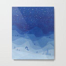 Stars factory, blue Metal Print