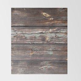Aged Wood rustic decor Throw Blanket