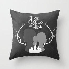 Like Calls To Like Throw Pillow