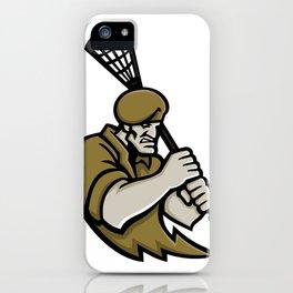 Commando Lacrosse Mascot iPhone Case