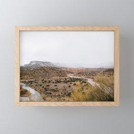Mist in New Mexico Framed Mini Art Print