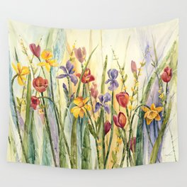 Spring Medley Flowers Wall Tapestry