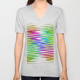 Rainbow rhombus Unisex V-Neck