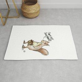 A Sassy Squirrel Rug