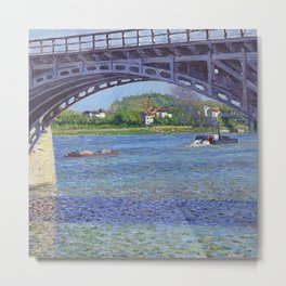 "Gustave Caillebotte ""The Argenteuil Bridge and the Seine"" Metal Print"