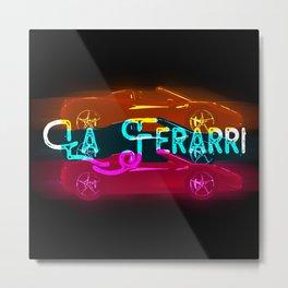 La Ferari X Two Lucky Metal Print