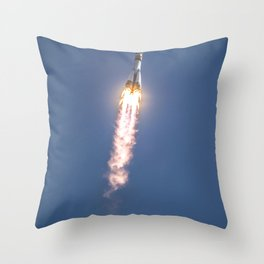 The Soyuz TMA-04M rocket launches from the Baikonur Cosmodrome in Kazakhstan Throw Pillow