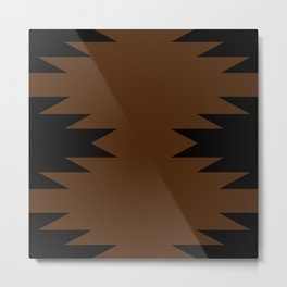 Geometric Southwestern Minimalism - Desert Orange Metal Print