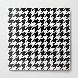 Black Houndstooth - Baby Stimulation Pattern Metal Print