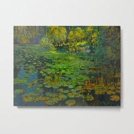 Václav Radimský (1867-1946) Water Lilies Impressionist Landscape Oil Painting Metal Print
